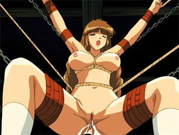 Girl in bondage at the mercy of futanari friend